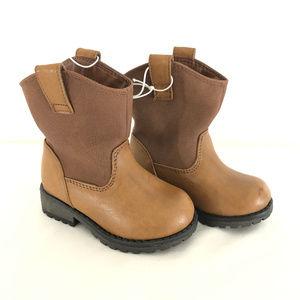 Cat & Jack Toddler Boys Hunter Western Boots 5